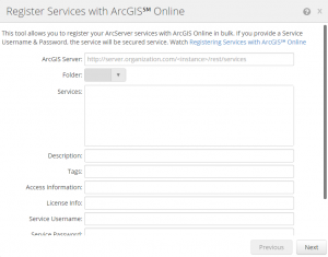 Register Services with ArcGIS Online using Admin Tools