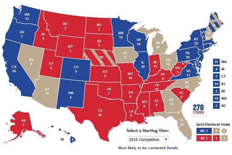 Electoral Votes Map. Pm Electoral Votes With Electoral Votes Map ...