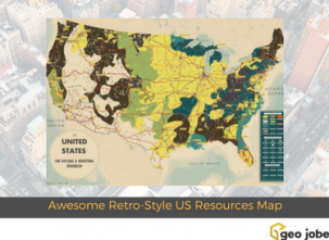 Awesome Retro-Style US Resources Map