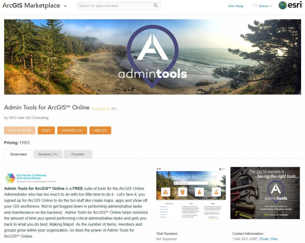 Admin tools in the marketplace