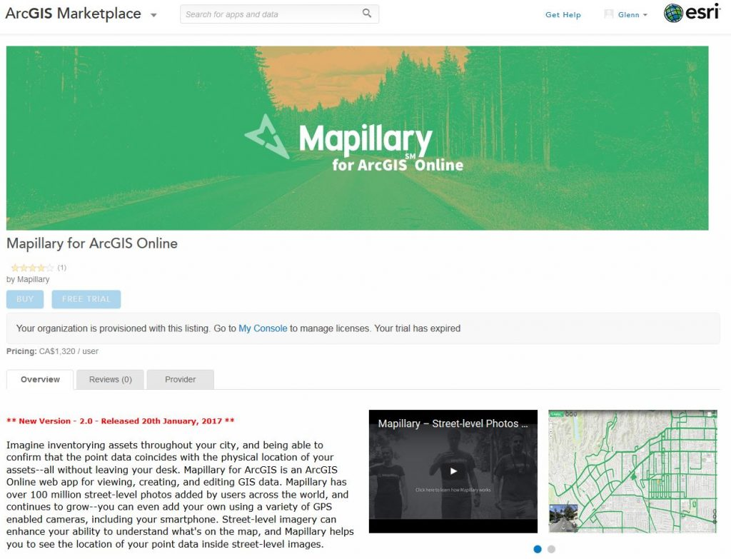 mapillary in the arcgis marketplace