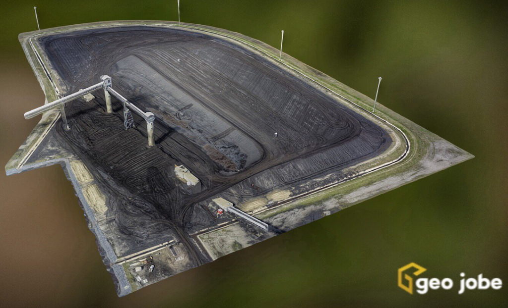 Volume calculation deliverable of a coal stockpile