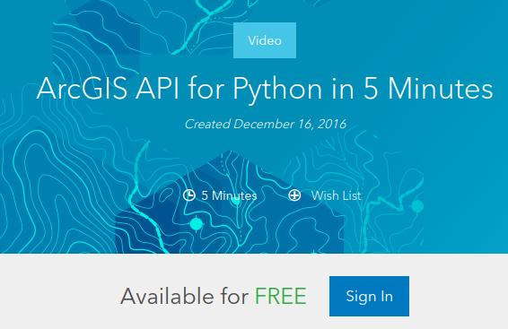 python api in 5 minutes