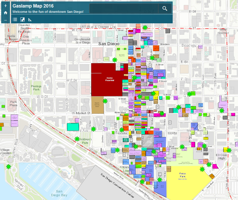 Find your way around at the #ESRIUC with the San Diego Gaslamp Map