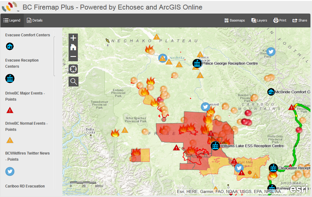 Public Wildfire Information Map