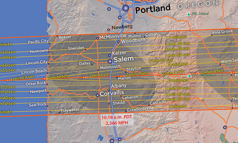 Oregon Eclipse Map 2017.More Maps Resources To Better Understand The Great American
