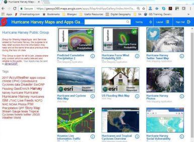 hurricane harvey maps gallery