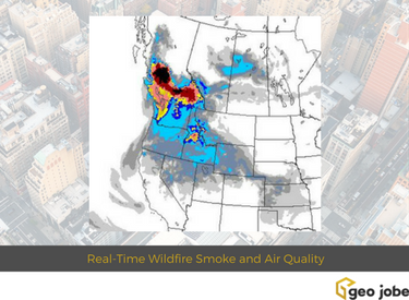 Maps And Webmaps Monitoring And Reporting Real Time Wildfire Smoke