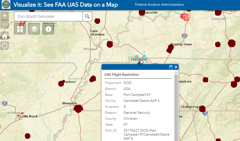 Knowing Where You Can Fly A UAV FAA Adds More Restricted - Us restricted airspace map