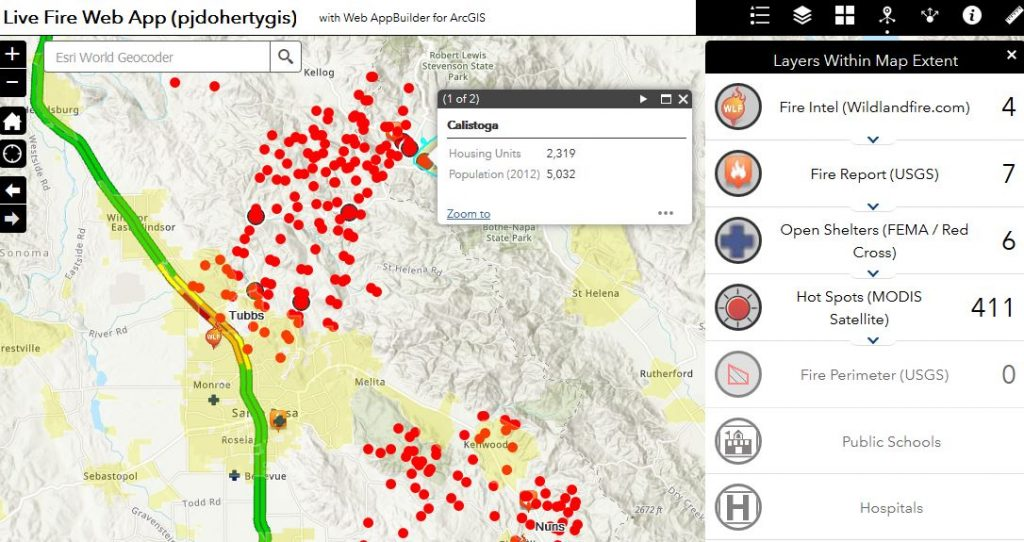 California Wildfire Maps Webmaps And Public Information Resources