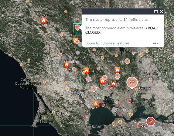 esri wildfire map