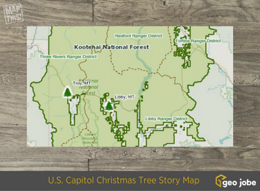 US Capitol christmas tree map
