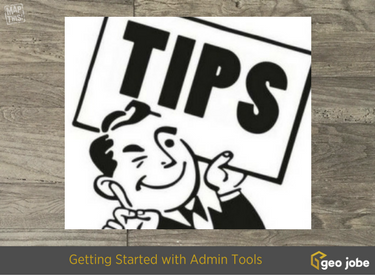 getting started with admin tools