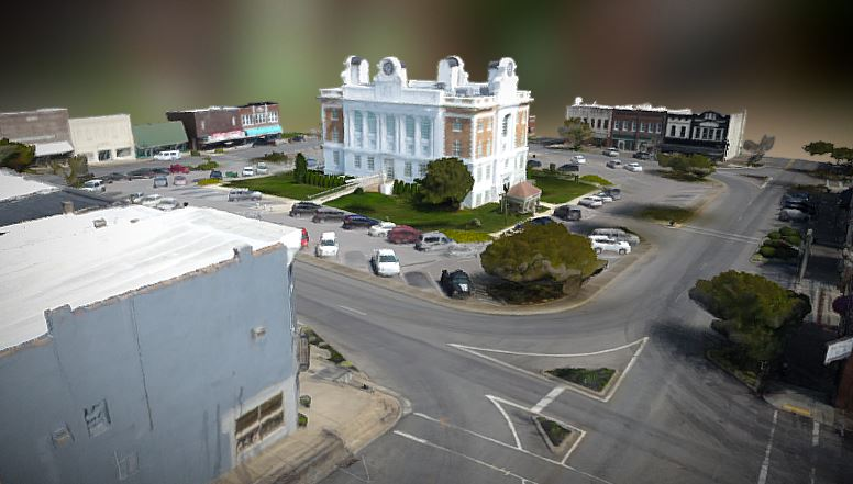 3D model, Lewisburg, TN