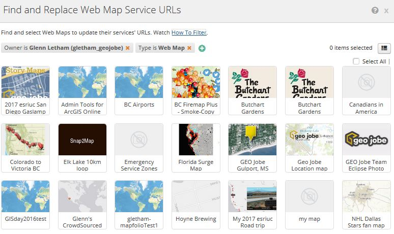 replace webmap service urls