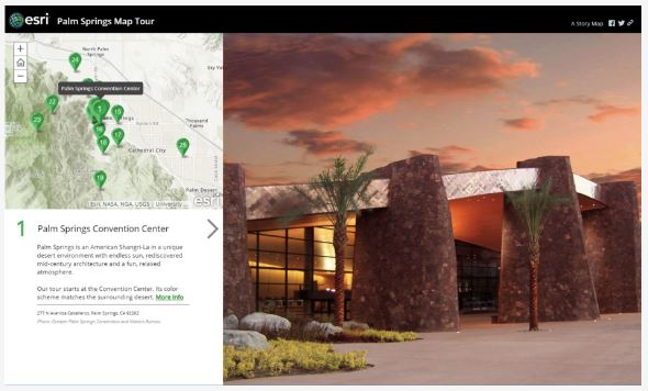 Palm Springs Story MAp