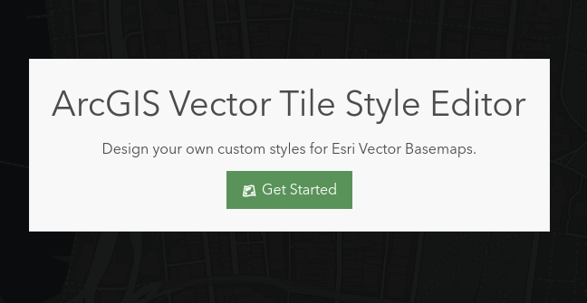 vector tile style editor