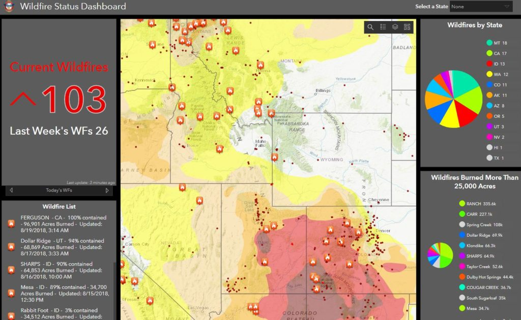 More Interactive Maps For Tracking Wildfires And Saving Lives Geo Jobe - Us-wildfire-activity-map