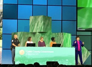 "The GIS team of Cobb County, Ga., uses #ArcGIS Enterprise to make GIS ""easy enough and visible enough that anyone can use it to solve their problems."" (Image: @gletham)"