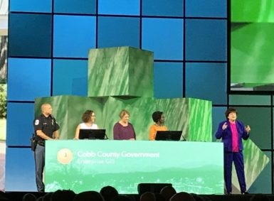 """The GIS team of Cobb County, Ga., uses #ArcGIS Enterprise to make GIS """"easy enough and visible enough that anyone can use it to solve their problems."""" (Image: @gletham)"""