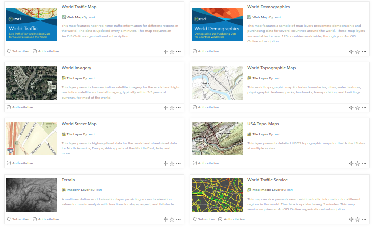 Lots of new content in the Living Atlas for your Web Apps and Web Maps!