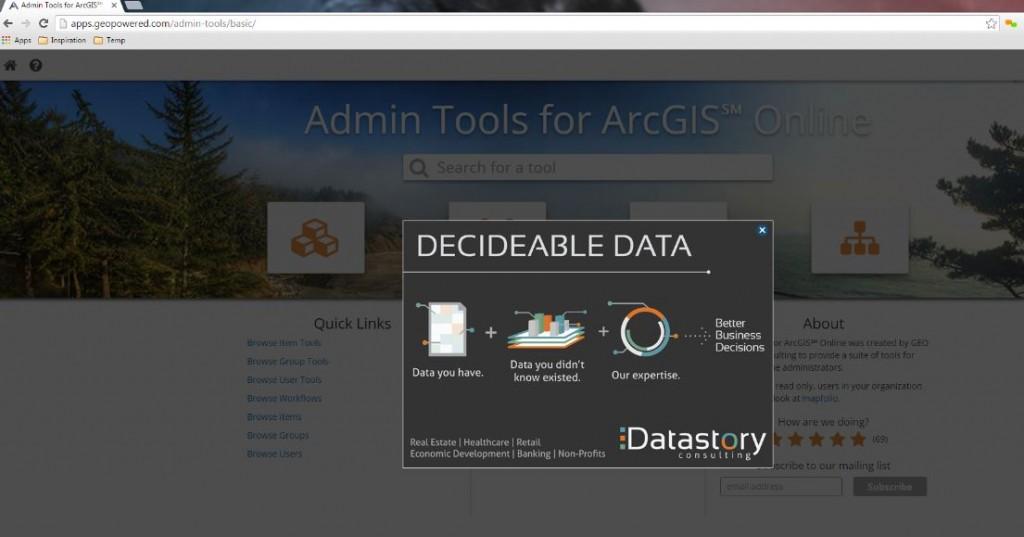 "Geo Marketing Tip - ""AppVertising"" Your Geo App Inside Admin tools, the #1 ArcGIS Marketplace App"
