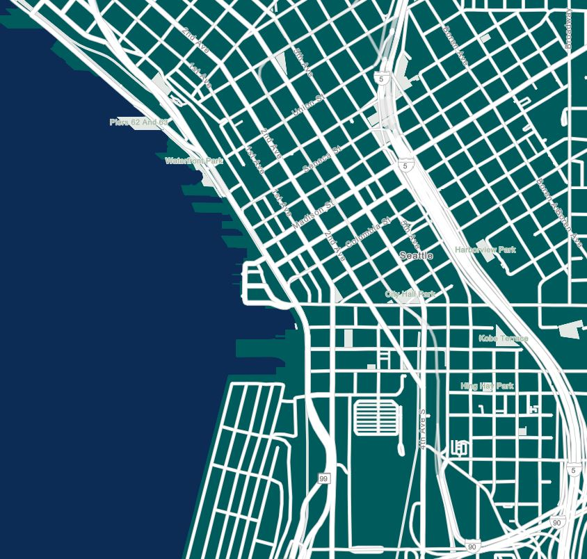 Seattle map with Seattle MAriners basemap layer