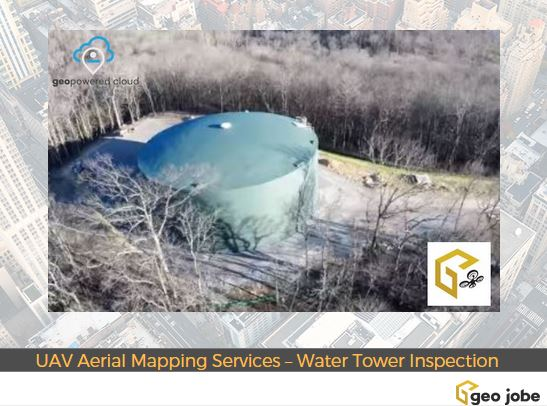 Geo Jobe GIS Consulting UAV Aerial Mapping Services - Water Tower