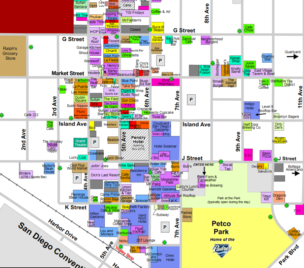 Find Your Way Around At The Esriuc With The San Diego Gaslamp Map