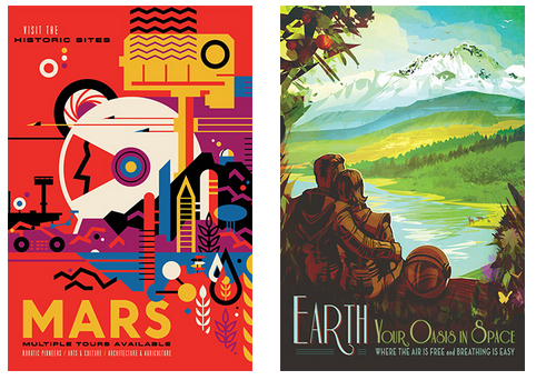 Free, Retro Space Tourism Posters