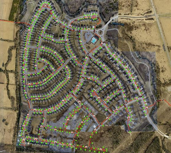 500 acre subdivision update with water lines