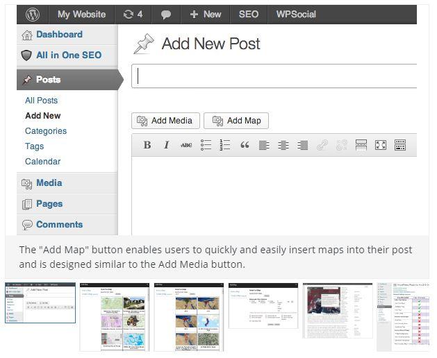 web map wordpress add map