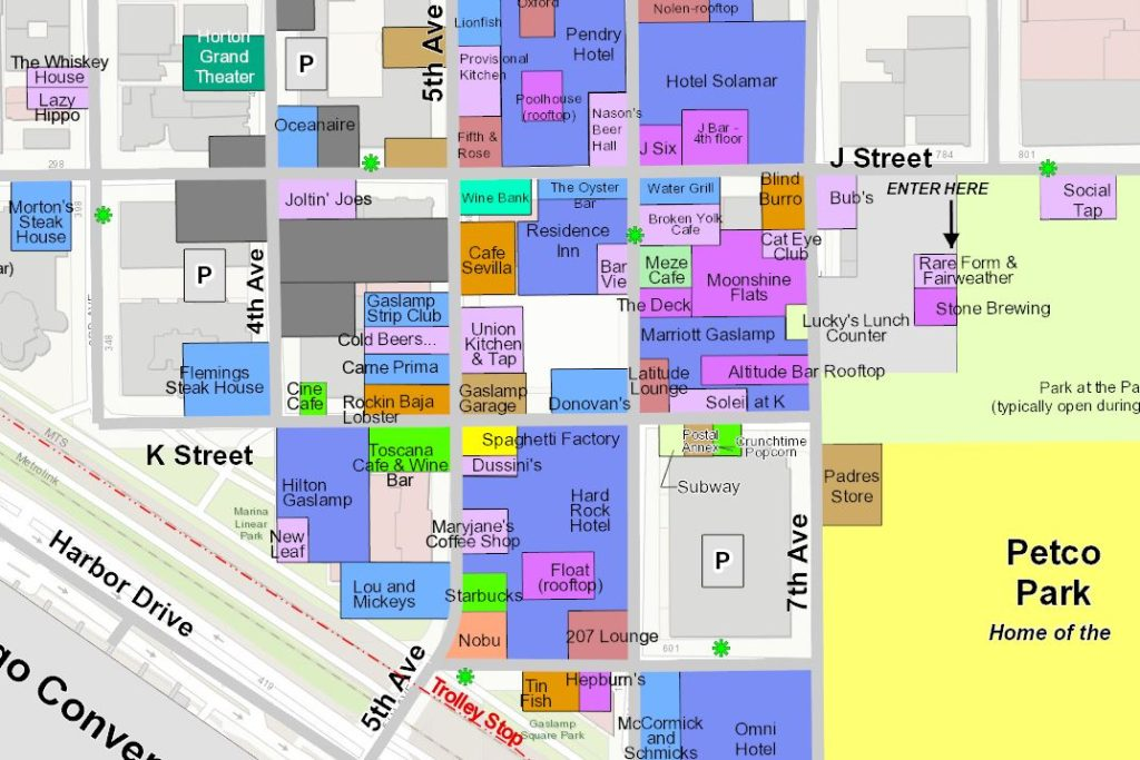 San Diego Gaslamp Maps And 10 Things To Do At The 2018