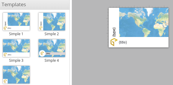Screenshot showing the default templates for Admin Tools for ArcGIS's Custom Thumbnail tool.