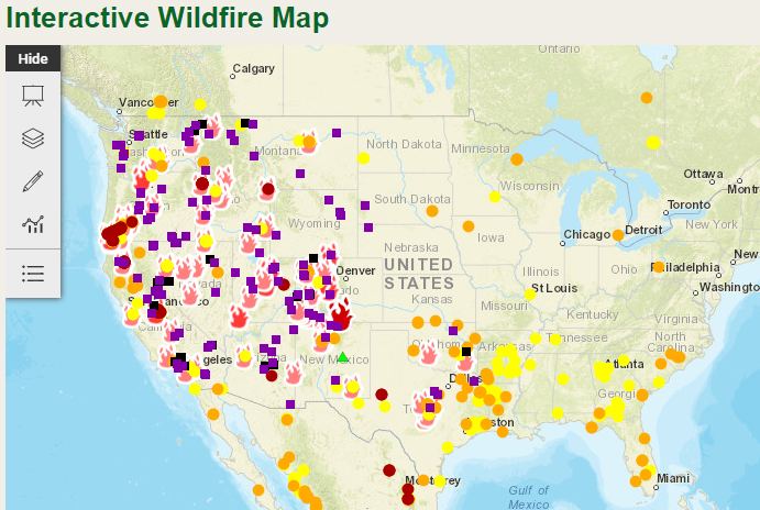 More Interactive Maps For Tracking Wildfires And Saving Lives Geo Jobe