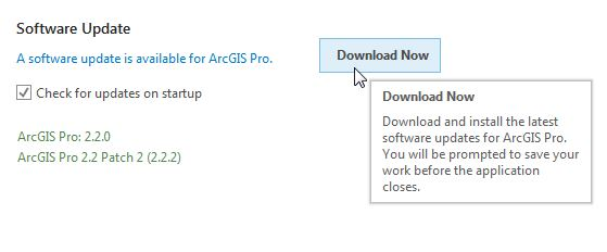 update to arcgis pro 2.2.2