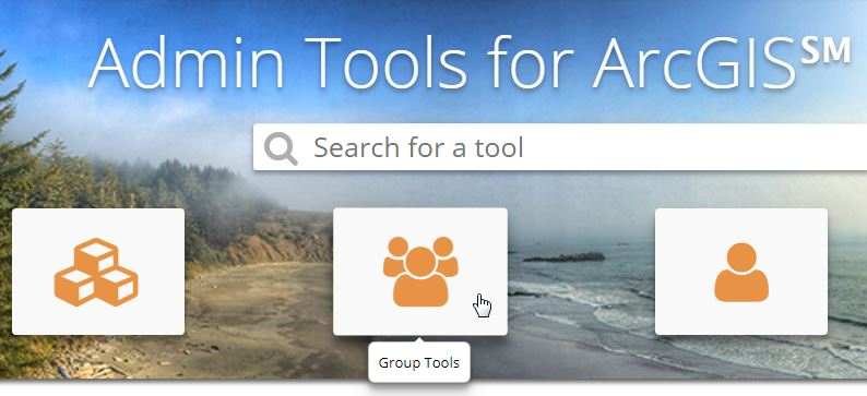 admin tools for arcgis, group tools